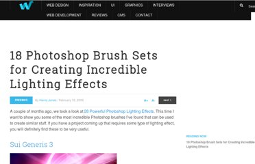 http://webdesignledger.com/freebies/18-photoshop-brush-sets-for-creating-incredible-lighting-effects