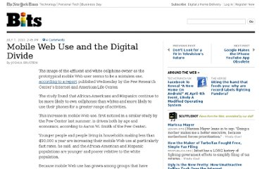 http://bits.blogs.nytimes.com/2010/07/07/increased-mobile-web-use-and-the-digital-divide/