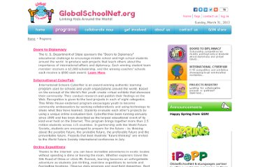 http://www.globalschoolnet.org/index.cfm?section=Programs