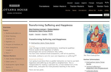 http://www.lotsawahouse.org/tibetan-masters/dodrupchen-III/transforming-suffering-and-happiness