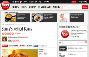 http://www.foodnetwork.com/recipes/sunny-anderson/sunnys-refried-beans-recipe/index.html