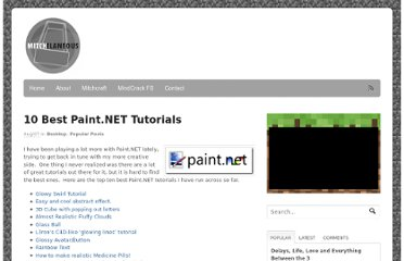http://www.mitchelaneous.com/2008/08/07/10-best-paintnet-tutorials/