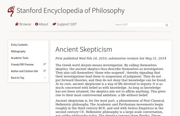 http://plato.stanford.edu/entries/skepticism-ancient/