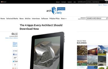http://www.archdaily.com/276999/the-4-apps-every-architect-should-download-now/
