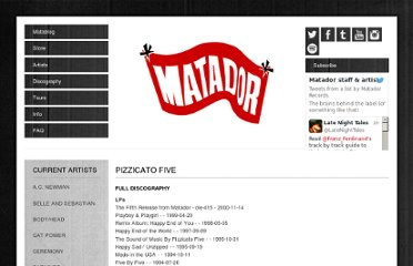 http://www.matadorrecords.com/pizzicato_five/