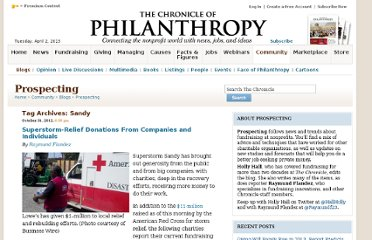 http://philanthropy.com/blogs/prospecting/tag/sandy