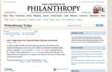 http://philanthropy.com/blogs/philanthropytoday/calif-judge-says-ariz-nonprofit-must-disclose-documents/56838