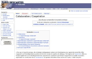 http://wiki.univ-paris5.fr/wiki/Collaboration_/_Coop%C3%A9ration