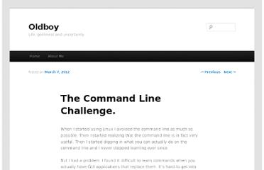 http://blog.chavezgu.com/2012/03/07/the-command-line-challenge/