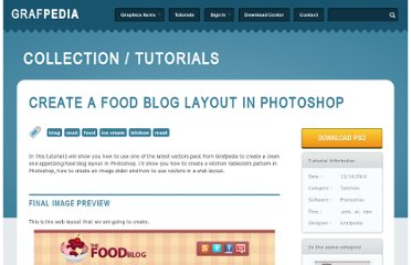 http://grafpedia.com/tutorials/create-food-blog-layout-photoshop