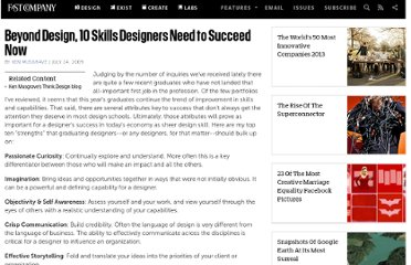 http://www.fastcompany.com/1309163/beyond-design-10-skills-designers-need-succeed-now