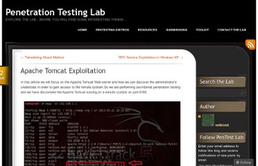 http://pentestlab.wordpress.com/2012/03/22/apache-tomcat-exploitation/
