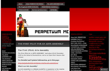 http://perpetualmobile.wordpress.com/2009/11/20/the-first-pilot-for-an-arts-assembly/