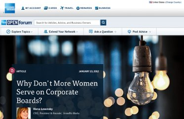 http://www.openforum.com/articles/why-dont-more-women-serve-on-corporate-boards/