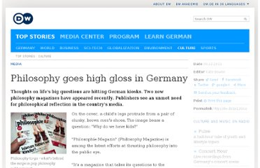 http://www.dw.de/philosophy-goes-high-gloss-in-germany/a-15585984-1
