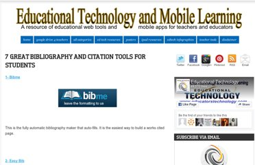 http://www.educatorstechnology.com/2012/11/7-great-bibiliography-and-citation.html