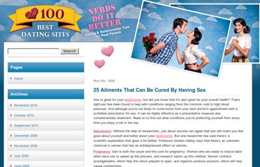 http://www.100bestdatingsites.com/blog/2008/25-ailments-that-can-be-cured-by-having-sex/