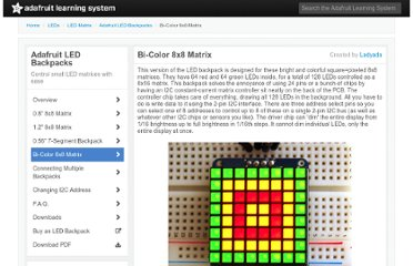 http://learn.adafruit.com/adafruit-led-backpack/bi-color-8x8-matrix