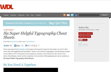 http://webdesignledger.com/resources/six-super-helpful-typography-cheat-sheets