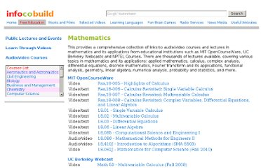 http://www.infocobuild.com/education/audio-video-courses/mathematics/mathematics.html