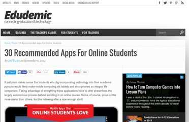 http://edudemic.com/2012/11/30-recommended-apps-for-online-students/