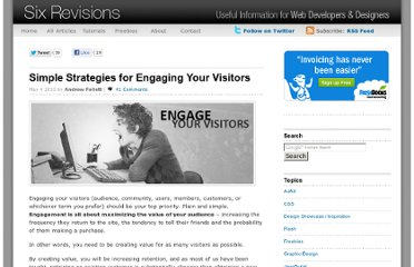 http://sixrevisions.com/content-strategy/strategies-engage-visitors/
