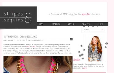 http://www.stripesandsequins.com/2012/07/diy-chevron-chain-necklace.html