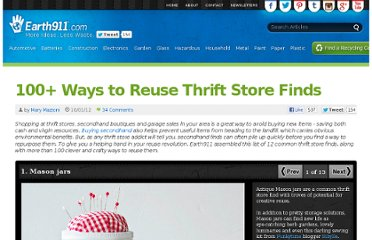 http://earth911.com/news/2012/10/01/100-ways-to-reuse-thrift-store-finds-clothing-furniture-jewelry/