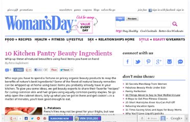 http://www.womansday.com/style-beauty/beauty-tips-products/10-kitchen-pantry-beauty-ingredients-105485
