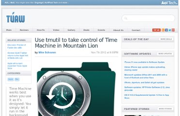 http://www.tuaw.com/2012/11/07/use-tmutil-to-take-control-of-time-machine-in-mountain-lion/