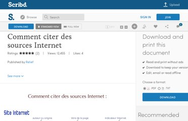 http://fr.scribd.com/doc/55004/Comment-citer-des-sources-Internet