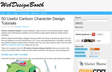 http://www.webdesignbooth.com/cartoon-character-design-tutorials/
