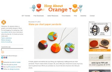 http://howaboutorange.blogspot.com/2012/11/make-pie-chart-paper-pendants.html