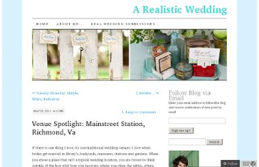 http://realisticwedding.wordpress.com/2011/05/25/venue-spotlight-mainstreet-station-richmond-va/
