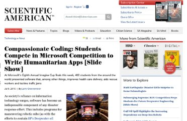 http://www.scientificamerican.com/article.cfm?id=microsoft-imagine-cup