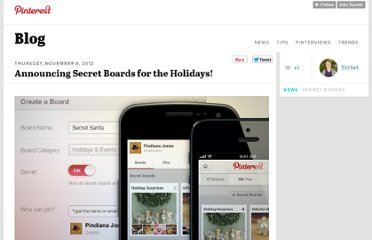 http://blog.pinterest.com/post/35270081794/announcing-secret-boards-for-the-holidays