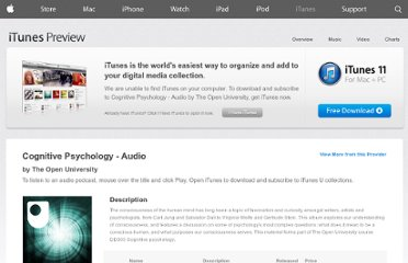 https://itunes.apple.com/us/itunes-u/cognitive-psychology-audio/id380228692