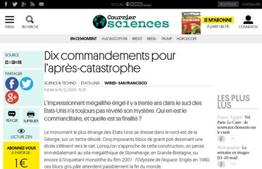 http://www.courrierinternational.com/article/2009/12/17/dix-commandements-pour-l-apres-catastrophe