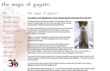 http://www.magicofgayatri.com/pages/magic-of-gayatri.html