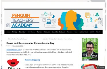 http://penguineducation.wordpress.com/2012/11/09/books-and-resources-for-remembrance-day/