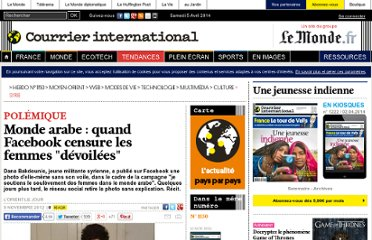 http://www.courrierinternational.com/article/2012/11/09/monde-arabe-quand-facebook-censure-les-femmes-devoilees