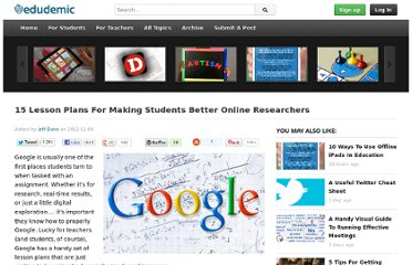 http://edudemic.com/2012/11/students-better-online-researchers/