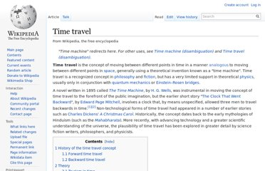 http://en.wikipedia.org/wiki/Time_travel
