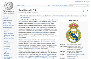 http://en.wikipedia.org/wiki/Real_Madrid_C.F.