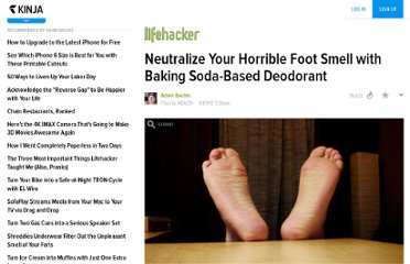http://lifehacker.com/5958618/neutralize-your-horrible-foot-smell-with-baking-soda+based-deodorant