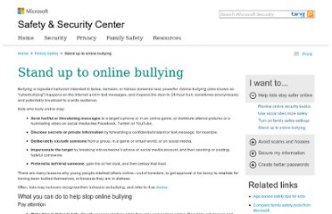 http://www.microsoft.com/security/family-safety/online-bullying.aspx