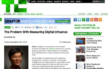 http://techcrunch.com/2012/11/09/can-social-media-influence-really-be-measured/