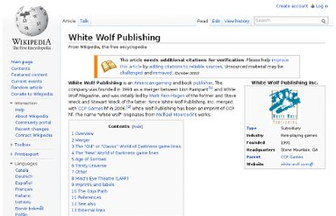 http://en.wikipedia.org/wiki/White_Wolf_Publishing