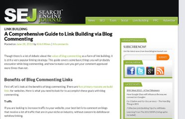 http://www.searchenginejournal.com/a-comprehensive-guide-to-link-building-via-blog-commenting/22263/