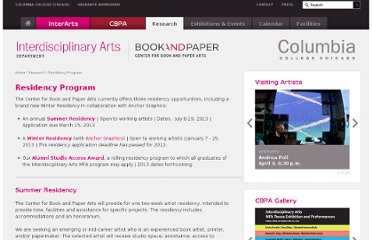 http://www.colum.edu/Academics/Interarts/research/residency-program.php